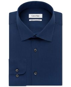 b4dd329de Calvin Klein Solid Dress Shirt - Dress Shirts - Men - Macy s Dress Shirts