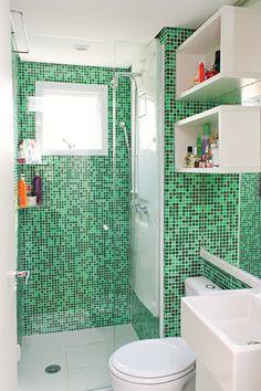 Banheiro compacto e organizado | Revista Casa Linda
