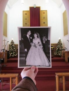 """In-laws 50th Wedding Anniversary """"Dear Photograph"""" picture"""