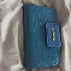 Olivia and joy wallet Blue crocodile print wallet Olivia + Joy Bags Wallets