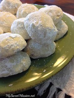 These Walnut Puff Cookies on MyRecipeMagic.com are buttery soft and melt in your mouth!