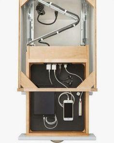 Kitchen Organization Storage Charging Stations Ideas For 2019 Diy Furniture, Furniture Design, Furniture Plans, Adirondack Furniture, French Furniture, Diy Casa, Kitchen Organization, Storage Organization, Office Storage