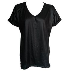 Home of Fashion Black PVC Wet Look V Neck Roll Sleeve Baggy Top (SM (8-10)) The Home of Fashion http://www.amazon.co.uk/dp/B0142QU7F0/ref=cm_sw_r_pi_dp_buX0vb1F6633Z