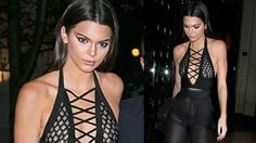 Kendall Jenner Shows Off Body in SHEER Outfit