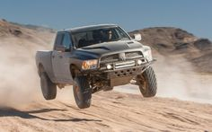 The 2012 Ram 1500 Mopar Ram Runner is getting some serious air here.