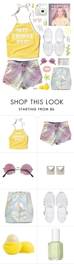"""""""Run- Vampire Weekend"""" by charcharr ❤ liked on Polyvore featuring Hollister Co., Emilie Morris, ASOS, Eos, Essie, Fujifilm and pastel"""