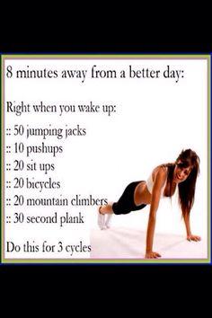 8 Minutes Workout Routine!
