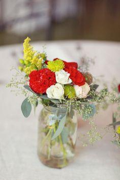like the jar idea, but different colour flowers