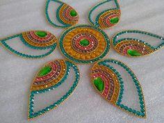 7 Rangoli Patterns, Rangoli Ideas, Rangoli Designs Diwali, Diwali Rangoli, Bead Embroidery Patterns, Beaded Embroidery, Beading Patterns, Embroidery Designs, Hobbies And Crafts