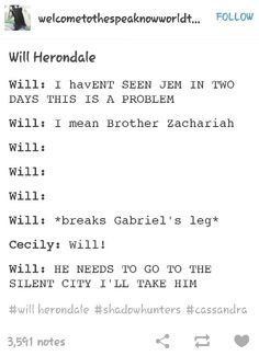 Will and Jem. Bromance funny. Tumblr. I can just imagine Will being so excited when shouting I'LL TAKE HIM.