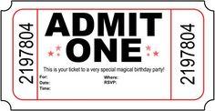 BirthdayPartyMagic.com - Invitación de cumpleaños para imprimir gratis