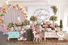 Party Decoration, Birthday Decorations, Donut Birthday Parties, Butterfly Baby Shower, Baby Girl 1st Birthday, Birthday Backdrop, Woodland Party, Easter Party, Bambi