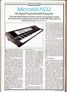 MATRIXSYNTH: The Microskill AS32 Synthesizer - Britain's Answer...