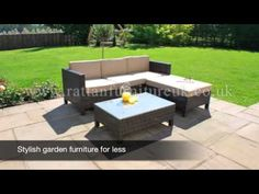 Garden Furniture 4 Less new huge chloe luxury rattan garden furniture patio - http://news