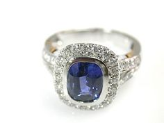 Sapphire Halo Engagement Ring #engagementrings #engagement #engagementjewelry