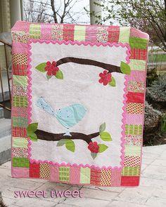 Bird quilt pattern - cute!