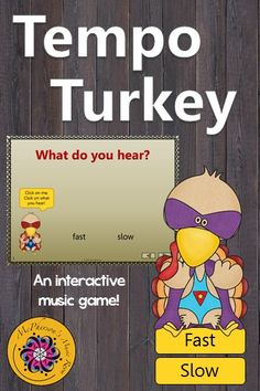 Tempo (fast or slow)? Your elementary music students are going to love this interactive music game! Be prepared for your classes to beg to do it again. Great activity to add to your Orff and Kodaly lesson plans especially around Thanksgiving.