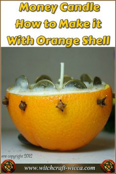 Money Candle - How to Make it With Orange Shell