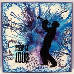Visible Image stamps - Silhouette Trumpet player - Music stamp - Karen Liddle