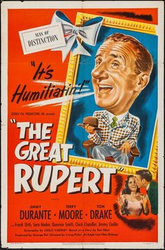 The Great Rupert (1950) Jimmy Durante, Terry Moore, Tom Drake, Frank Orth, Sara Haden, Queenie Smith, Chick Chandler ~ Director: Irving Pichel