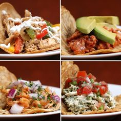 Chicken Tacos 4 Ways by Tasty
