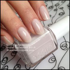 Essie Perennial Chic – Essie Spring one of 2 missing from my collection. Wedding Manicure, Bridal Nails, Manicure And Pedicure, Mani Pedi, Pretty Nail Colors, Pretty Nails, Fun Nails, Pretty Makeup, Essie Nail Polish Colors