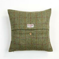 Harris Tweed Cushion in Bracken Huntsman Check.