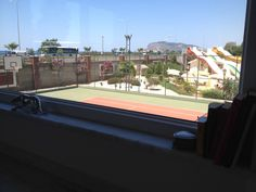 Tennis court/ view from living room