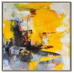 Large Palette Knife Painting On Canvas Abstract por CelineZiangArt