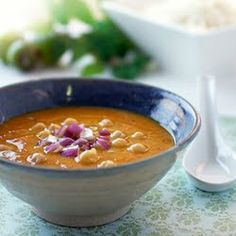 Vegetarian Mulligatawny Soup with Jasmine Rice (from Gluten-Free Goddess)
