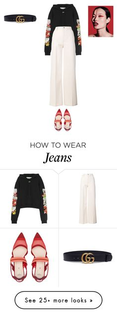 """Sans titre #13762"" by ghilini-l-roquecoquille on Polyvore featuring Off-White, Tory Burch, Fendi and Gucci"