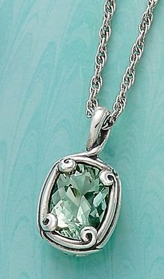 Christmas Collection: Crafted Loops Prasiolite Pendant #JamesAvery