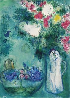 View Les amoureux - Couple blanc au bouquet by Marc Chagall on artnet. Browse upcoming and past auction lots by Marc Chagall. Marc Chagall, Artist Chagall, Chagall Paintings, Jewish Art, Art Archive, Kandinsky, Art For Art Sake, Couple Art, Pictures To Draw