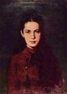 Portrait of a maid, by Nicolae Grigorescu (Romanian, Famous Artists, Great Artists, High Art, Work Inspiration, Female Art, Art Boards, New Art, Art History, Modern Art