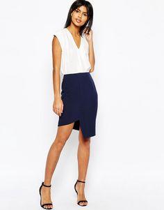 ASOS Clean Asymmetric Pencil Skirt