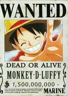 One piece, Luffy One Piece Anime, One Piece 1, One Piece Luffy, Anime One, Otaku Anime, Manga Anime, Wanted One Piece, Tatoo Naruto, Anime Disney