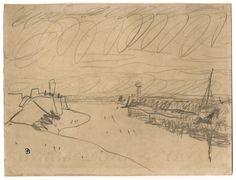 Pierre Bonnard - Deauville l'embouchure de La Touque (ca.1936) #pencil