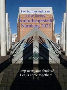 'For human rights in a free Europe! Jump over your shadow!  #NUE2025 CCXXVIII' von Martin Blättner bei artflakes.com als Poster oder Kunstdruck $15.77