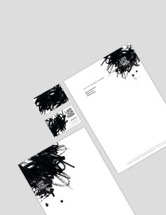 Create your own business solutions! Modern letterhead and business cards. Black and white.
