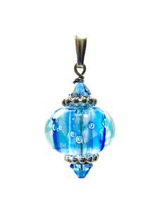 Omnipot Furnace -- ヴァレリー(4) ファウンテン Lampwork Beads, Christmas Bulbs, Holiday Decor, Christmas Light Bulbs