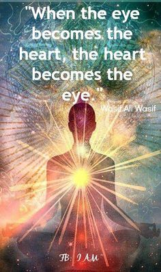 Transformation - Seeing through the heart---the rasi, rays of the Sun shines thru you