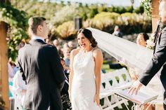 wedding ceremony - photo by Catie Coyle Photography http://ruffledblog.com/gold-and-pink-vineyard-wedding