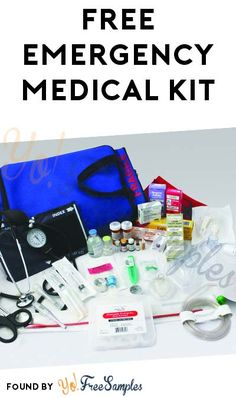 """Request this Emergency Medical Kit for a limited time only! How to get free kit: Visit the companies website by clicking """"Get This Offer (External Stuff For Free, Free Stuff By Mail, Free Baby Stuff, Freebies By Mail, Baby Freebies, Free Samples By Mail, Free Baby Samples, Free First Aid Kit, Emergency Medical Kit"""