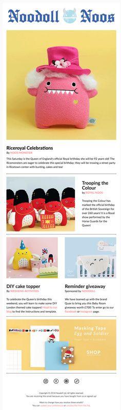 Noodoll Noos / The latest Ricemonster gossip for Noodoll friends! #noodoll #newsletter #mailchimp #template #monster #toy #plushtoy #fun #kids #newspaper #news#design