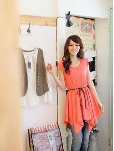 Eye Korean Irregular Sleeveless Chiffon Casual Dresses  Casual Dresses from stylishplus.com