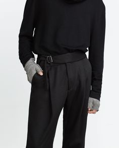 TROUSERS WITH BELT DETAIL - View all - Trousers - MAN   ZARA Belgium