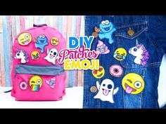 DIY CUSTOM Backpacks for Back to School 2017! with EMOJI PATCHES Isa's W...