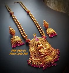 Temple Jewellery available at Ankh jewels for booking msg on Gold Jewelry Simple, Silver Jewelry, Silver Ring, Silver Earrings, Gold Necklace, Necklace Ideas, Necklace Designs, Diamond Jewelry, Gold Temple Jewellery