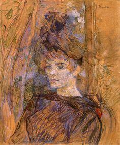 Henri de Toulouse-Lautrec (French ,1864-1901) Portrait Of Suzanne Valadon,1886–87. Анри де Тулуз-Лотрека (французский, 1864-1901) Портрет Сюзанны Валадон, 1886-87. 亨利·德图卢兹 - 劳特克(法语,1864-1901)肖像的Suzanne Valadon,1886-87。