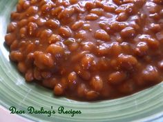 Dear Darling's Recipes: Sweet and Hot Baked Beans
